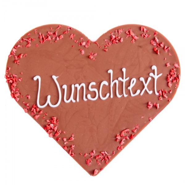 Milchschokoladen-Herz mit Wunschtext
