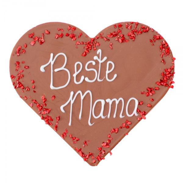 """Milchschokoladen-Herz """"Beste Mama"""""""