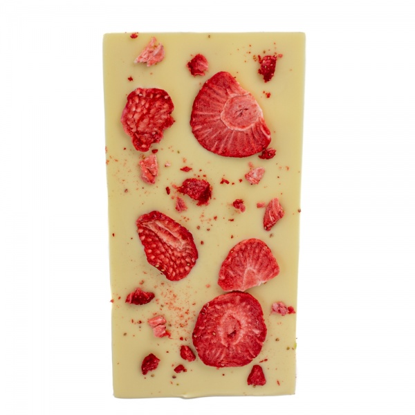 Weiße Schokolade Erdbeere