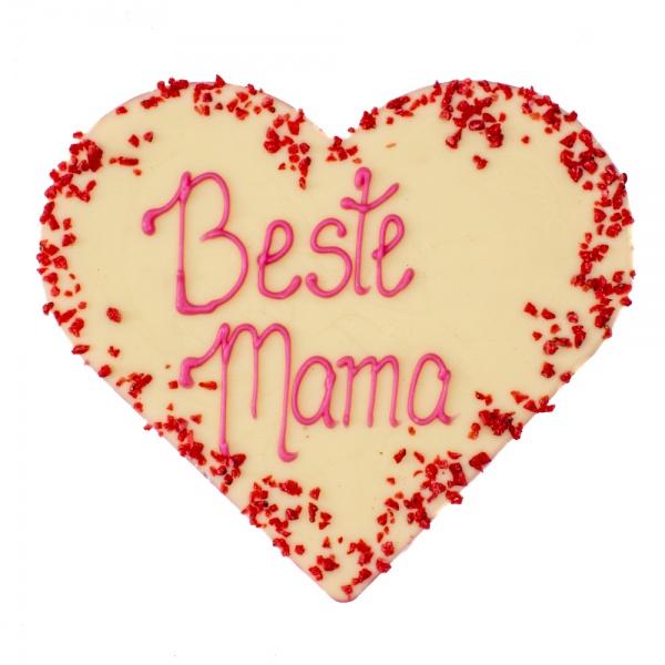 """Weißes Schokoladen-Herz """"Beste Mama"""""""